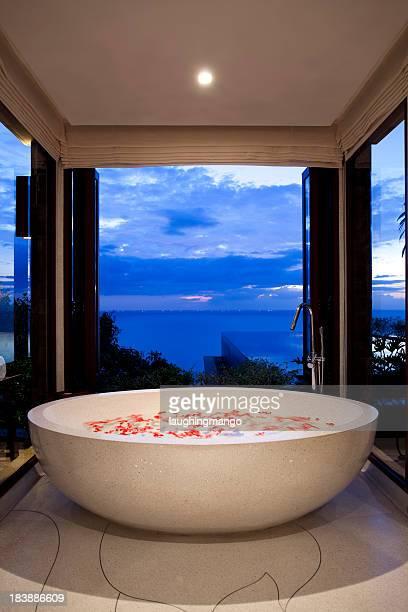 villa bathroom phuket bathtub