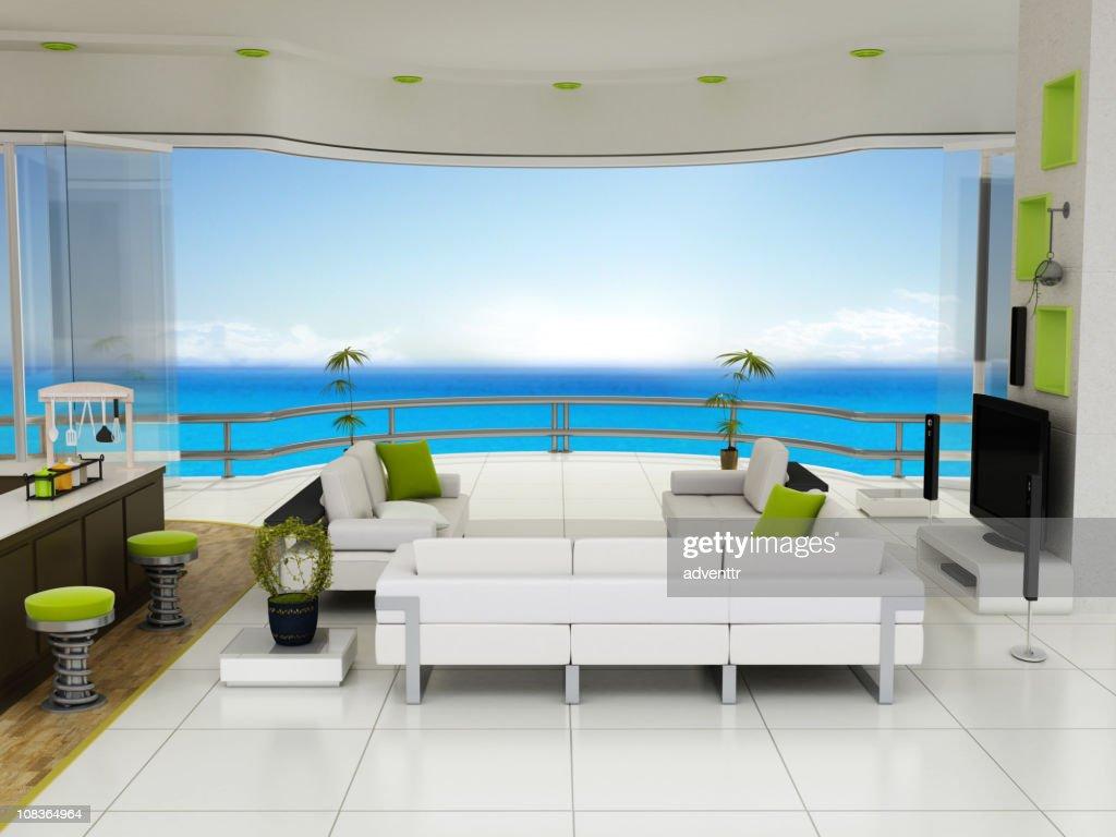 Villa interior design : Stock Photo