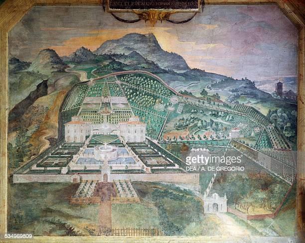 Villa Lante in Bagnaia ca 1581 fresco in the loggia of Palazzina Gambara Italy 16th century