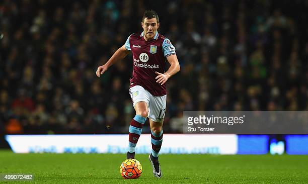 Villa player Jordan Veretout in action during the Barclays Premier League match between Aston Villa and Watford at Villa Park on November 28 2015 in...