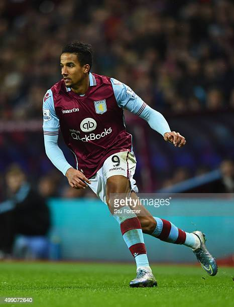 Villa player Scott Sinclair in action during the Barclays Premier League match between Aston Villa and Watford at Villa Park on November 28 2015 in...