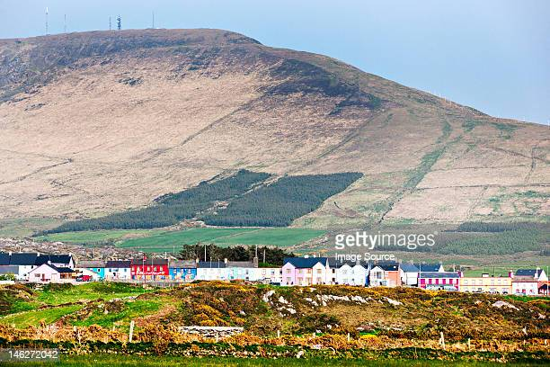 Village and mountains, allihies, county cork, ireland