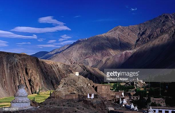 Village and Zanskar Range, Ladakh.