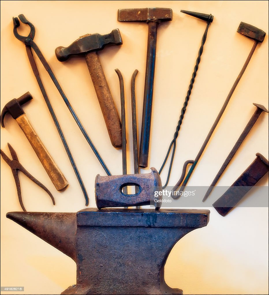 Captivating Village Blacksmith Tools.