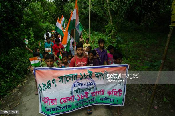 Village boys of Shivniwas have taken part in road procession on 71st Independence day in Shivniwas village