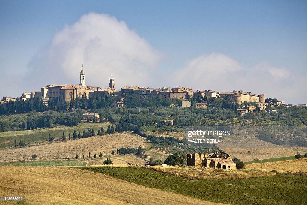 イタリア田舎町の風景