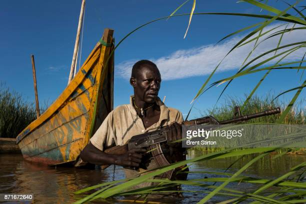Village defence man Steven Lajore is from an internally displaced Turkana community who have been moved off their land by Dassanech tribesman who...