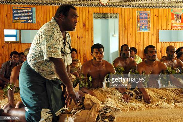 Village Elders during Kelly Slater Invitational Fiji Day 2 Mome Village Tour in Mome Village Tavarua Island Fiji