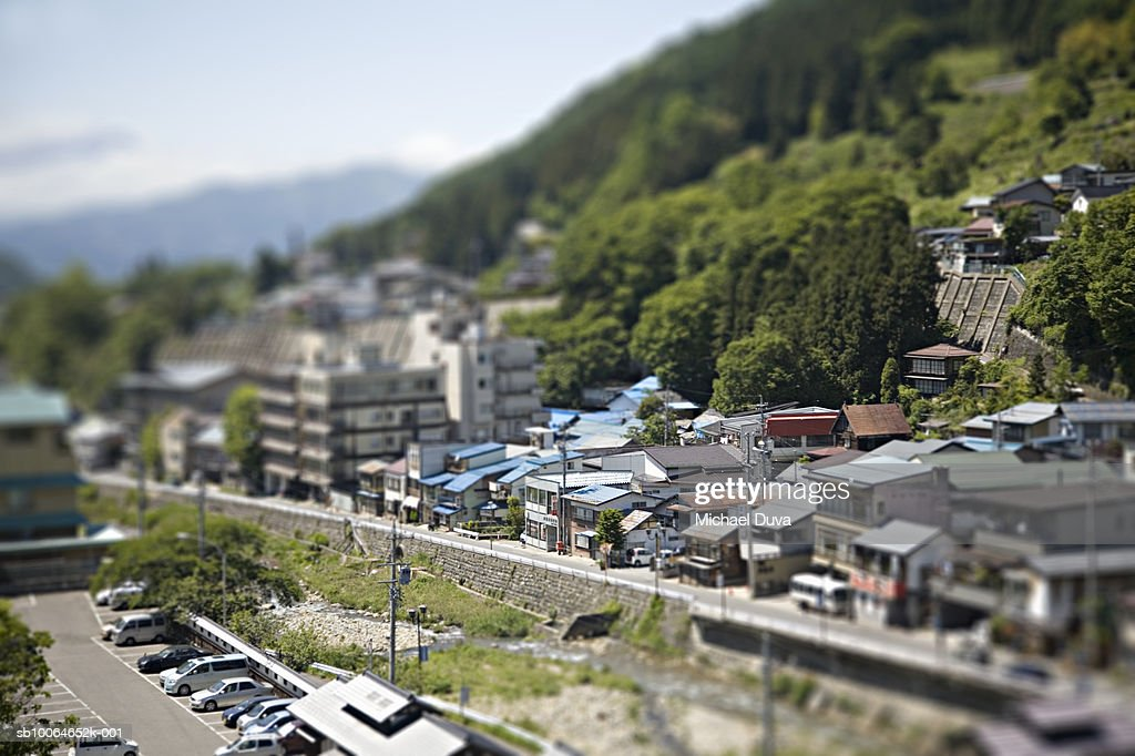 Village, elevated view : Stock Photo