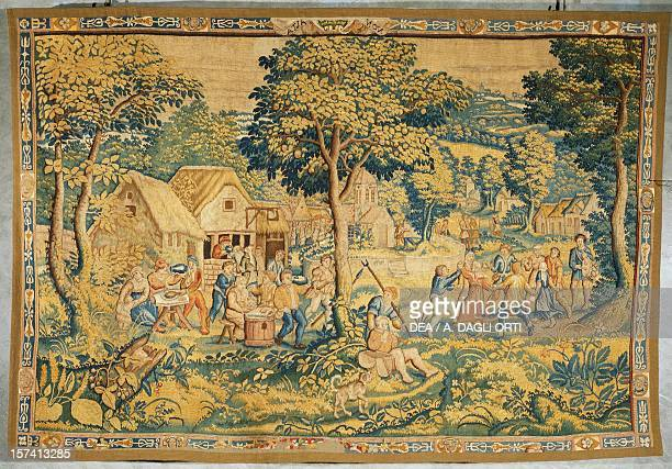 A village festival late 16th century Flemish tapestry from cartoons by Cornelius Mattens Brussels manufacture Belgium 16th century Correggio Museo...