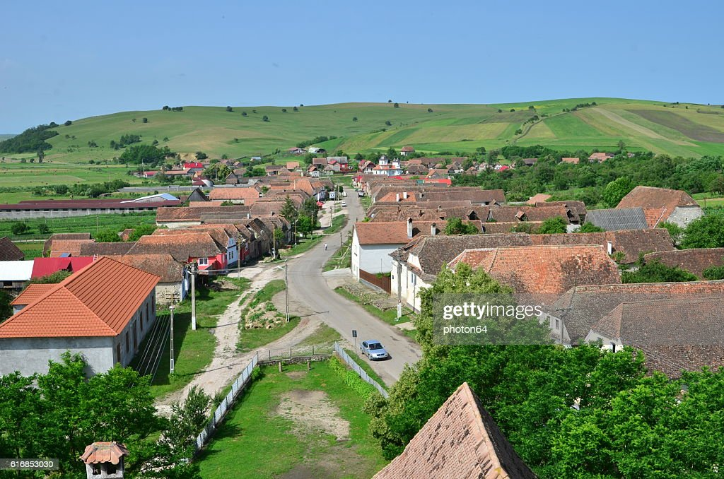 Village from above : Stock Photo