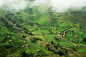 Village huts in Simien Mountains