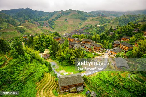 Villaggio di Guilin : Foto stock