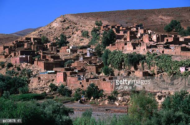 Village in the Nfiss Gorge on the Tizi-n-Test Highway, Toubkal National Park, Morocco