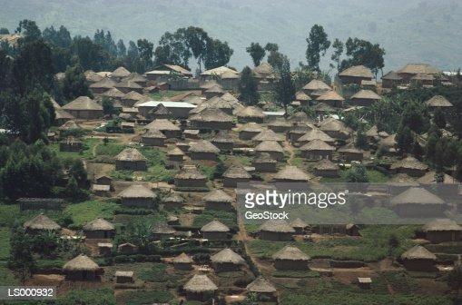 Village in Zaire : Stock Photo