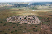 Village on the outskirts of Juba, Republic of South Sudan