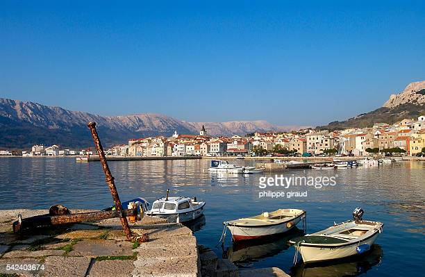 Village of Baska on Krk Island located in the Kvarner Gulf | Location Krk Croatia
