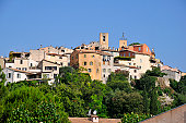 Village de Biot on the top of a hill in the Alpes-Maritimes department in France