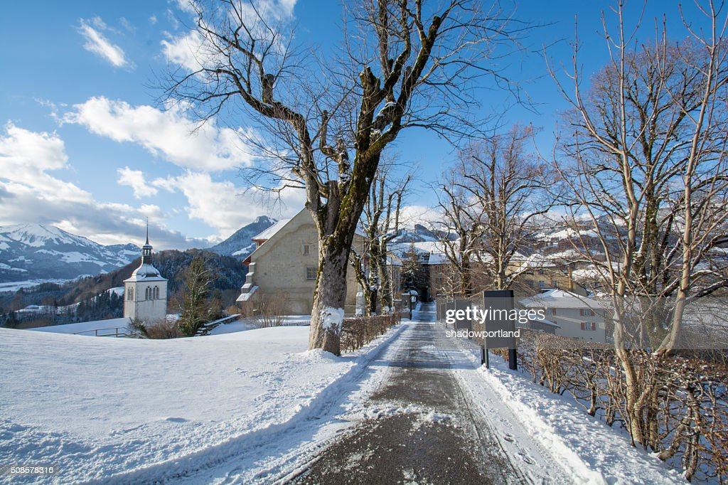 village of gruyeres, switzerland : Stockfoto