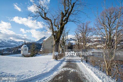 village of gruyeres, switzerland : Stock Photo