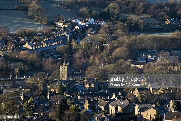 Village of Hayfield in Derbyshire, England