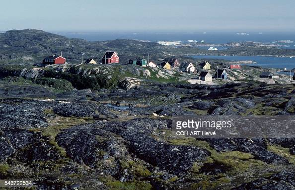 Village of Kagssemiut Acculturated by the Danes throughout the 20th century the Inuit have learned to live in prefabricated housing Fishing remains a...