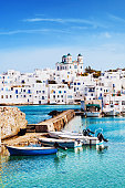 Picturesque Naousa village, Paros island, Greece