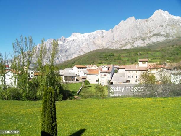 Village of Posada de Valdeón in the Picos de Europa