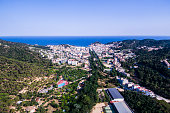 Village of Tossa de Mar. Aerial view.