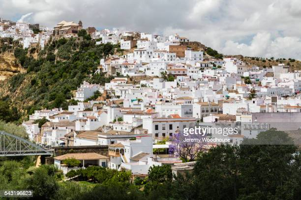 Village on hillside, Arcos de la Frontera, Andalusia, Spain