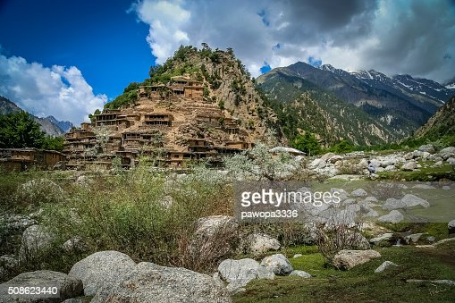 Village on the rock : Stock Photo