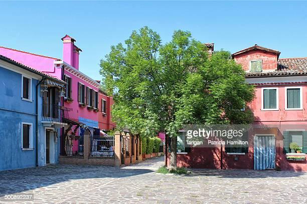 Village square in Burano