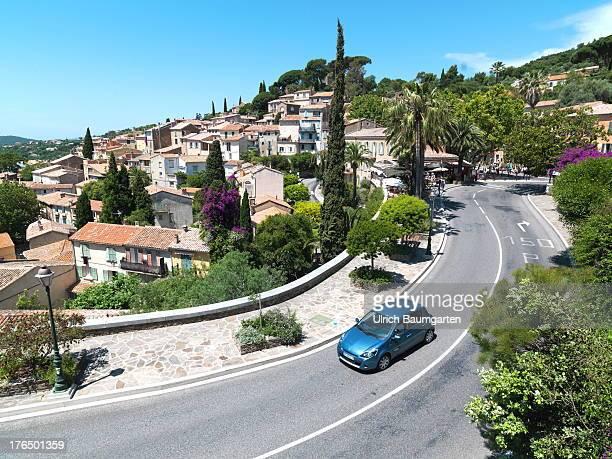 Village with access road of BormeslesMimosas on June 22 2013 in BormeslesMimosas Cote d'Azur France
