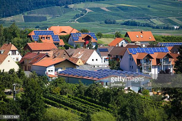 Village mit Solar-Panel Häuser