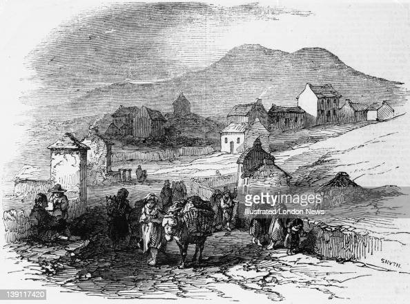 Villagers at Waterville County Kerry Ireland during the Great Famine Ireland 1846 Original publication Illustrated London News pub 10th January 1846