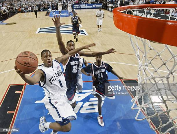 Villanova's Kyle Lowry puts up a shot Monday February 13 2006 at the Wachovia Center in Philadelphia PA Villanova University upset University of...