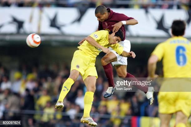GILBERTO / RIQUELME Villarreal / Arsenal 1/2 finale retour de Champions League