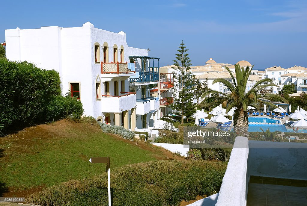 Villas in Cretan Village. : Stock Photo