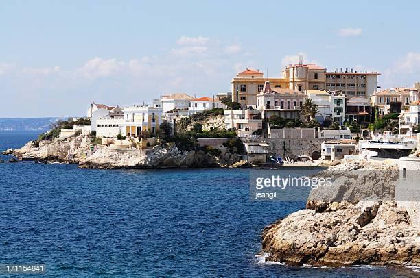 Villen auf das Mittelmeer