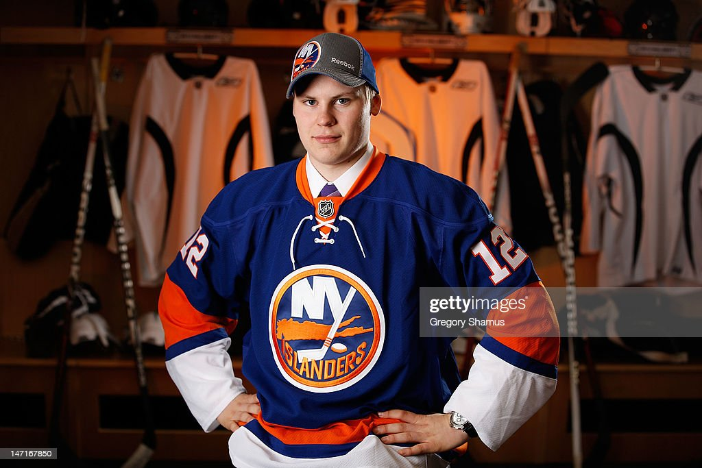 Ville Pokka, 34th overall pick by the New York Islanders, poses for a portrait during the 2012 NHL Entry Draft at Consol Energy Center on June 23, 2012 in Pittsburgh, Pennsylvania.