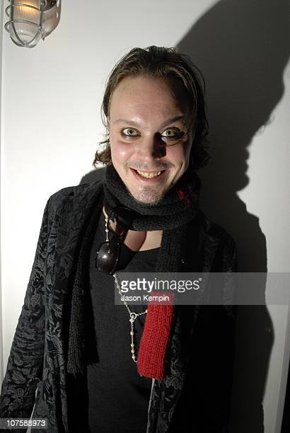 Ville Valo of Him during Ville Valo of HIM Visits MTV2's 'T Minus Rock' May 10 2006 at MTV Studios in New York City New York