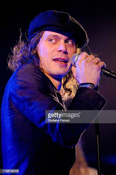 Ville Valo of HIM performs at Apollo on December 9 2007 in Manchester England