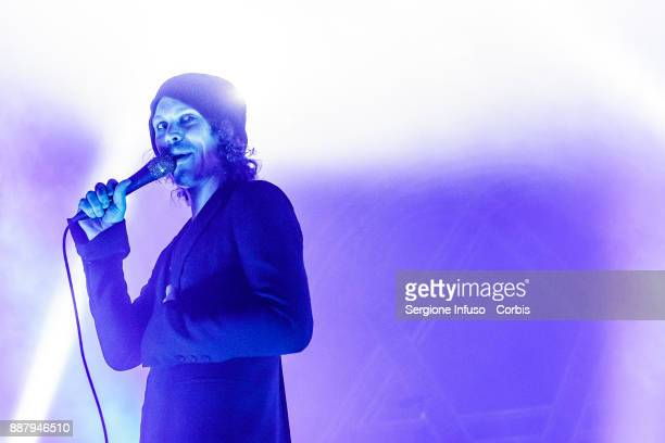 Ville Valo of HIM performs on stage at Alcatraz on December 7 2017 in Milan Italy