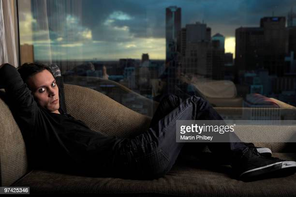 Ville Valo of Him poses for a portrait session on 27th March 2008 in Melbourne Australia
