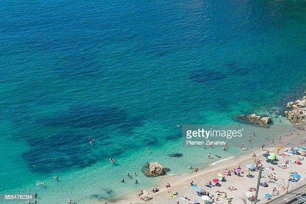 Villefranche-sur-Mer beach in Nice, France