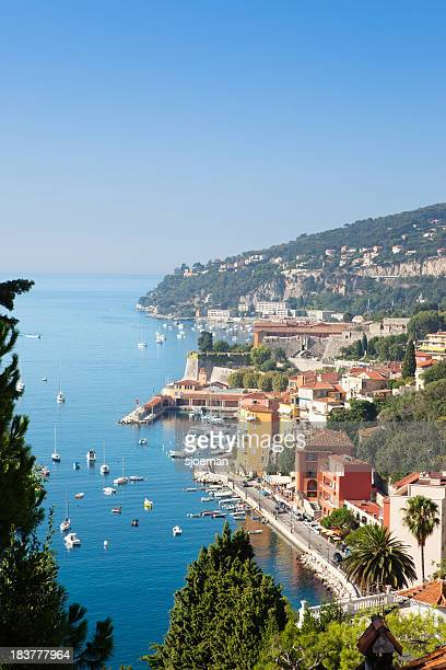 Villefranche-sur-Mer filled with boats off the shoreline