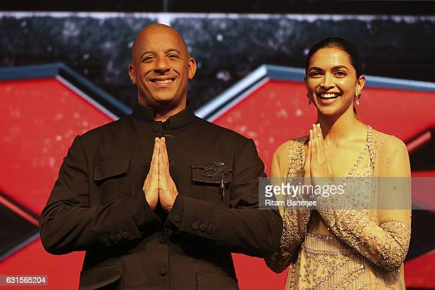 Vin Diesel and Deepika Padukone attend the Paramount Pictures fan screening for 'xXx The Return Of Xander Cage' January 12 2017 at St Regis Hotel...