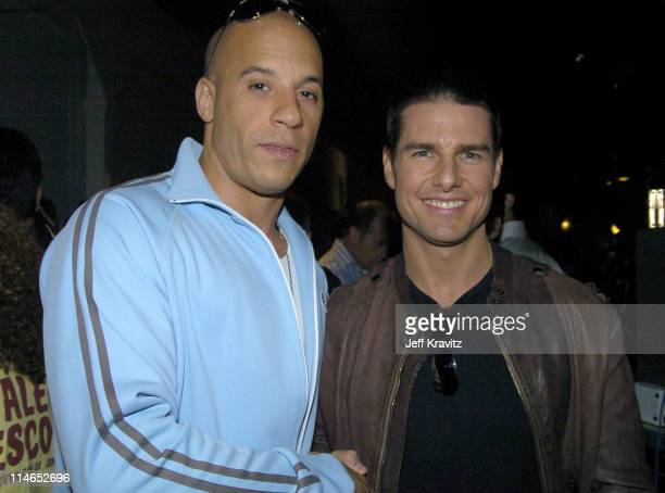 Vin Diesel and Tom Cruise **Exclusive Coverage** during 2004 MTV Movie Awards Backstage and Audience at Sony Pictures Studios in Culver City...