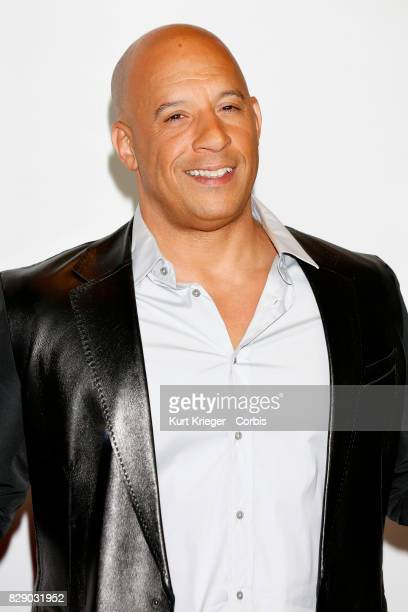 Image has been digitally retouched Vin Diesel arrives at the People's Choice Awards 2016 in Los Angeles CA on January 06 2016