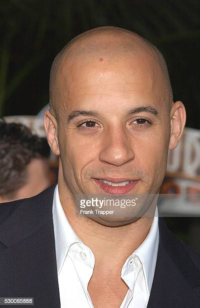 Vin Diesel arrives at the premiere of 'The Chronicles of Riddick'